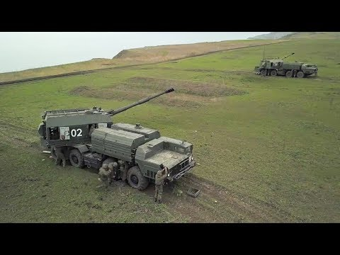 Тренировка расчётов артиллерийских