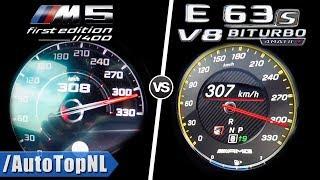 BMW M5 F90 vs AMG E63 S | 0-300km/h AUTOBAHN POV ACCELERATION TOP SPEED & Exhaust SOUND by AutoTopNL