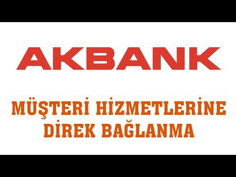 Akbank Müşteri Hizmetlerine Direk Bağlanma (En Kısa Yoldan)