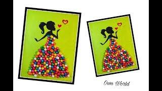 Download Video DIY Rom Decor Ideas|Making Girl with beautiful dress| Birthday card MP3 3GP MP4