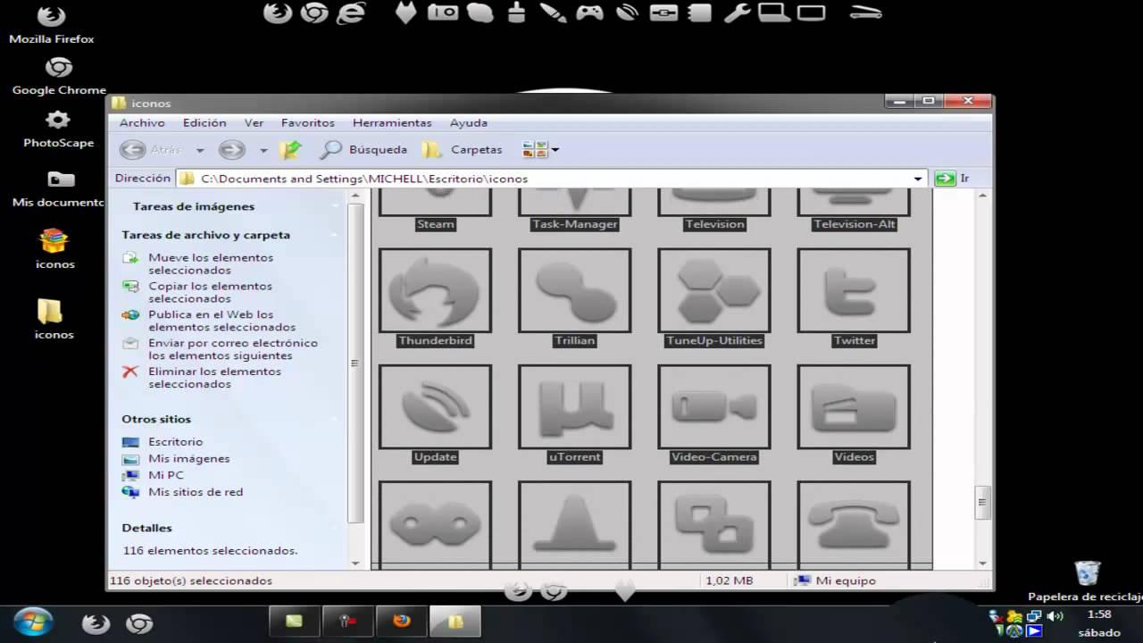 pack de iconos para objectdock