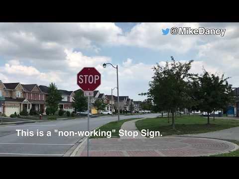 Brampton Stop Sign not working