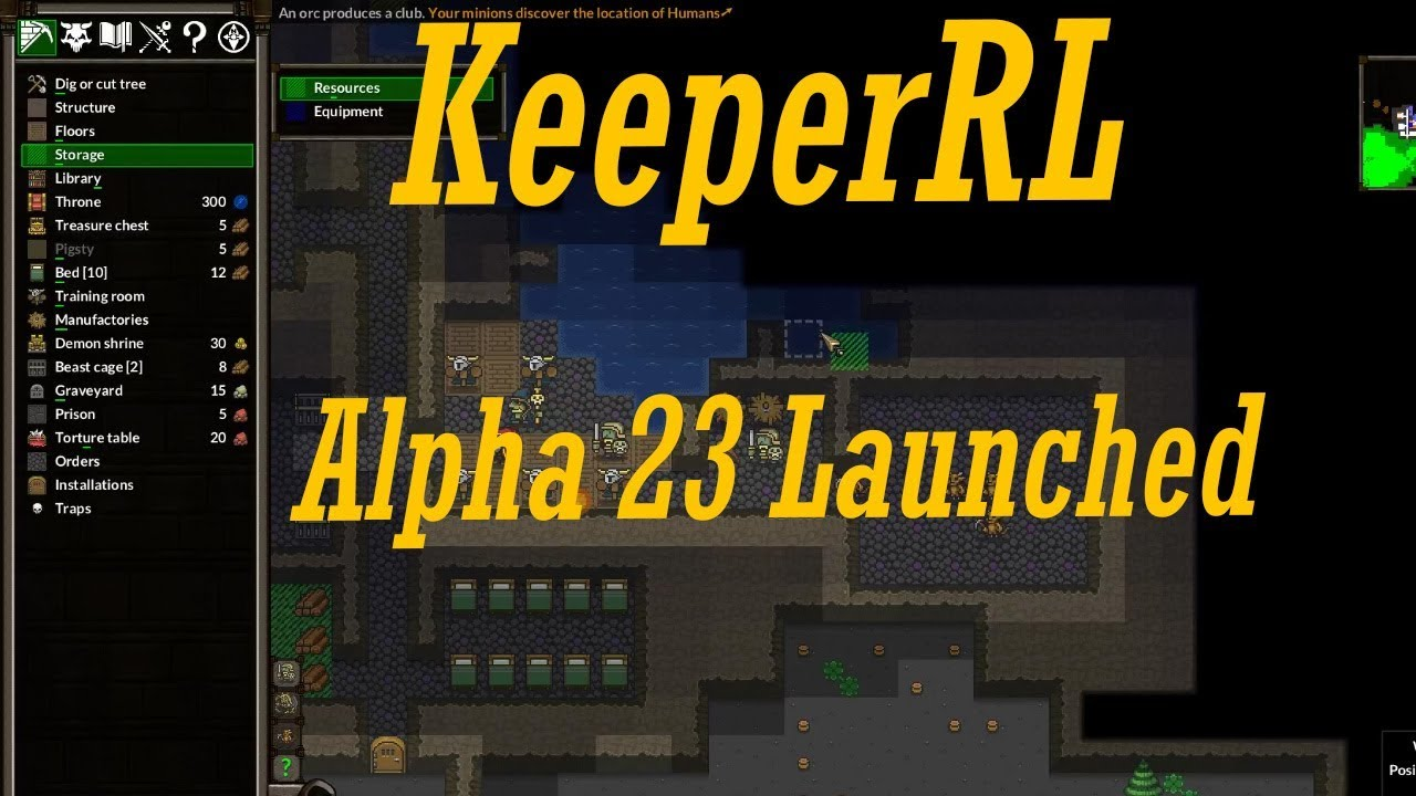 KeeperRL Alpha 23 launched - New mode added - KeeperRL Alpha 23 Endless  game mode tutorial