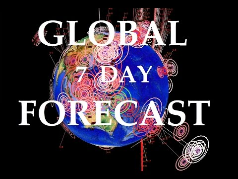 6/10/2015 -- Global Earthquake Overview + 7 Day Forecast -- Multiple new areas show activity