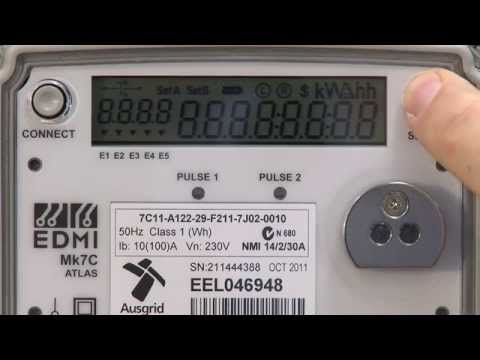 How to read my electronic meter  YouTube