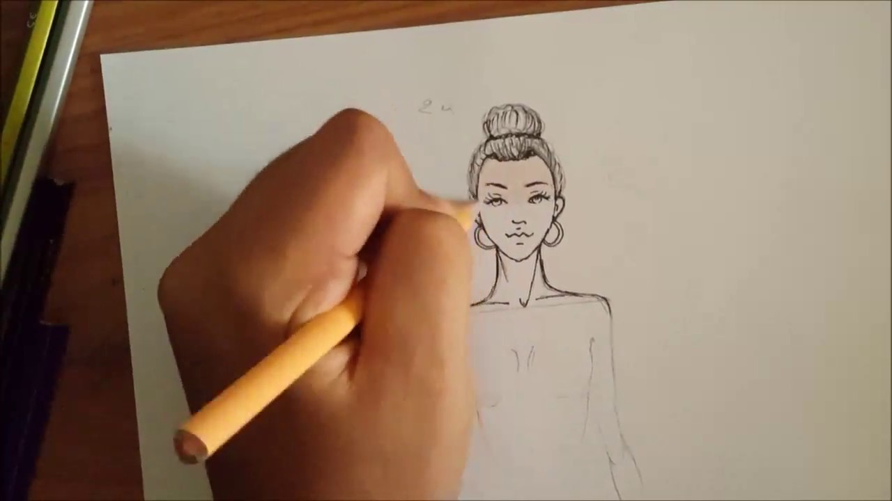 Fashion Illustration How To Draw Face Easy Comment Dessiner Un Visage Facile Youtube
