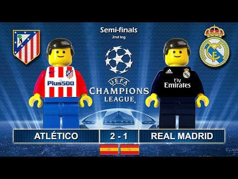 Atletico Madrid vs Real Madrid 2-1 • Semi-finals Champions League 2017 • Highlights Lego Football