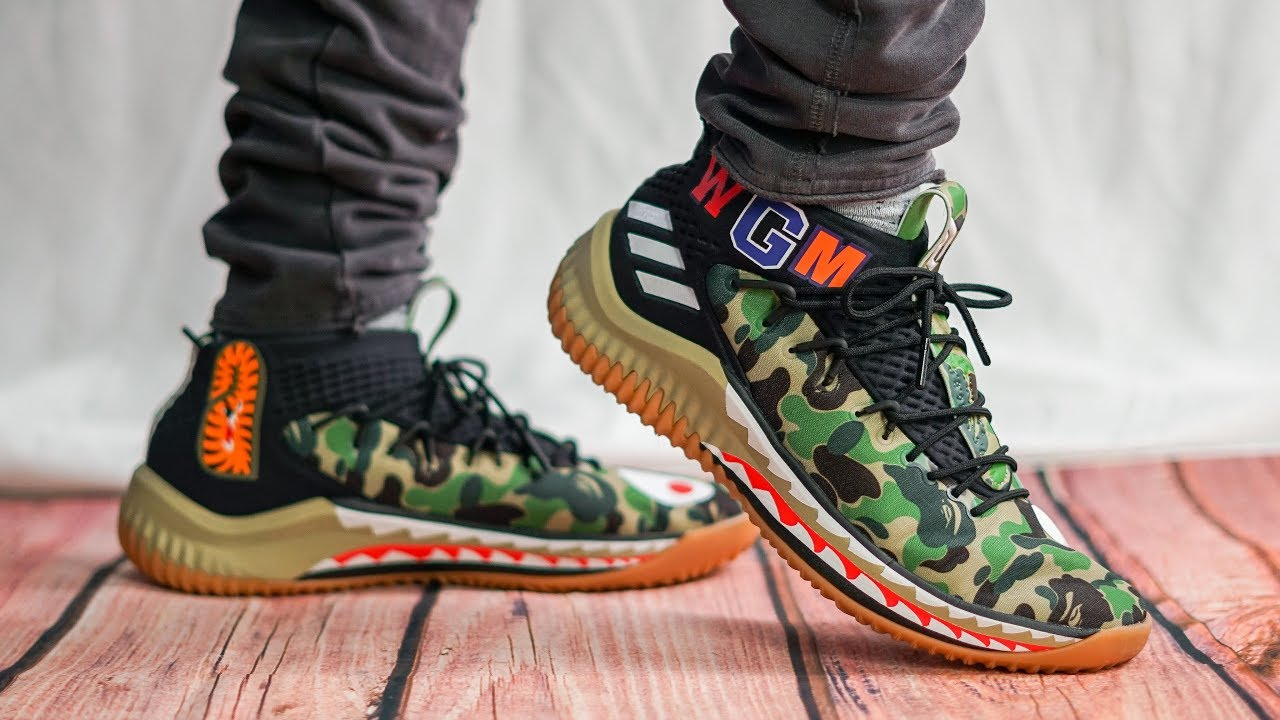 95bd4473836e6 HOW ADIDAS AND BAPE GOT ME | ADIDAS X BAPE DAME 4 ON FOOT REVIEW ...