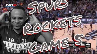 I don't want Spurs to Win : Houston Rockets vs San Antonio Spurs Full Game 5 Highlights Reaction