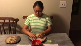 Demonstration How to wrap Lumpia