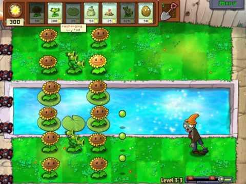 Gameplay-PlantsVsZombies Level 3 3