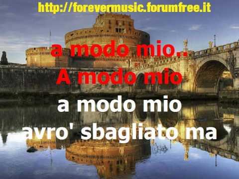 Claudio Baglioni - A modo mio (cori) -KARAOKE