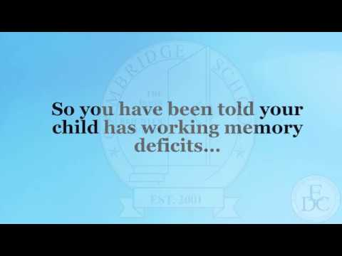 Peg Dawson: Working Memory Deficits
