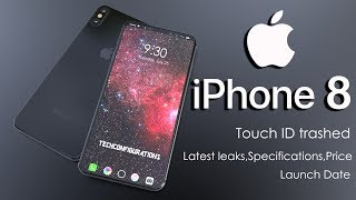 iPhone 8 Design Leaks ,Touch ID Trashed,Two Variants,Full Specifications,Launch Date Confirmed !