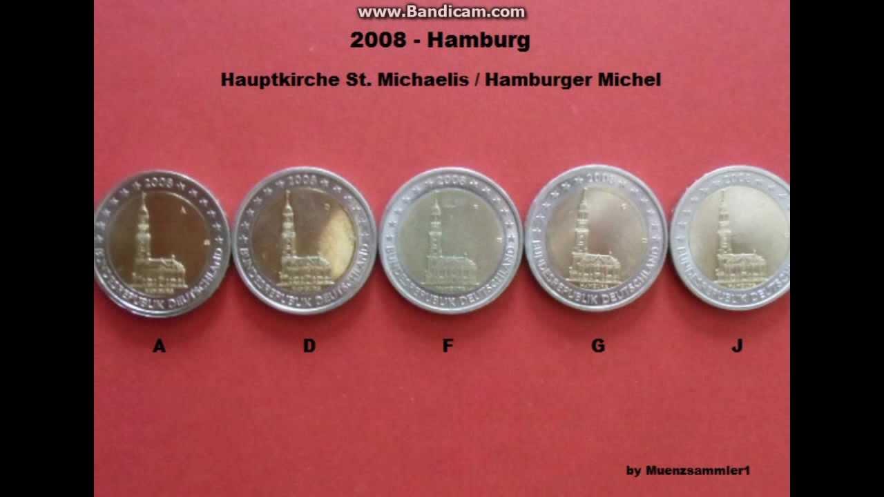 2 Euromünzen Sondermünzen Der Bundesländerserie 2006 2013 Hd Youtube