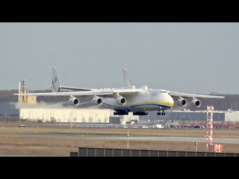 Antonov AN-225 Mriya landing at Leipzig Airport GML to LEJ UR-82060 03.04.2018 Long Version