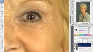 Уроки Adobe Photoshop CS3 - урок 19 - Смягчение морщин