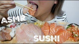 ASMR | SALMON vs.TUNA SASHIMI Relaxing Eating Sounds | N.E Let's Eat