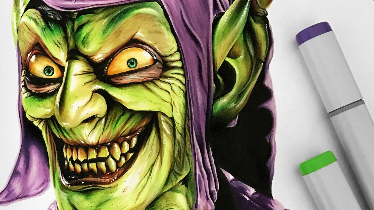 drawing green goblin youtube