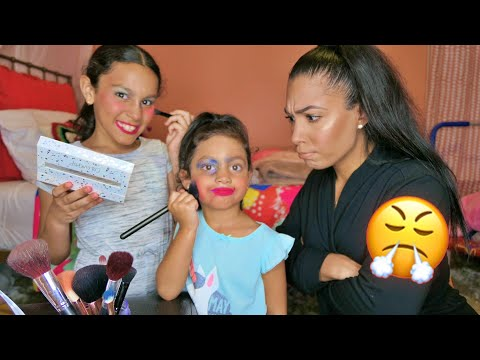 KIDS STEAL MOMS MAKEUP FOR A MAKEUP TUTORIAL **HILARIOUS** thumbnail