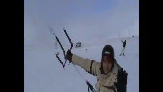 Trip to Kadoka, South Dakota, kite skiing
