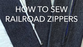 How to Sew Railroad Zippers (Separating and Closed End)