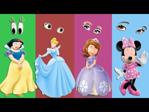 Wrong Eyes Funny Cinderella Snow & Minnie Mouse Finger Family Song for Kids