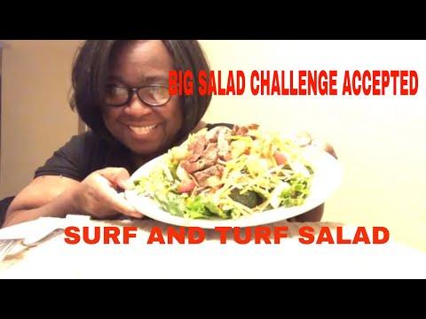Big Salad Challenge Surf and Turf Salad 🥗