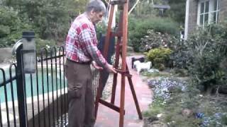 Tilting Studio A Frame Easel In Jarrah, Model Atk1800.3gp