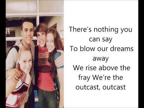 Glee Cast- Outcast (Lyrics)