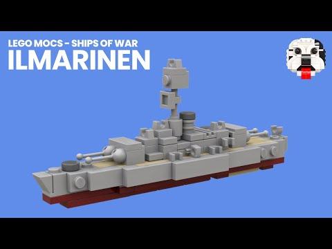 LEGO Finnish Coastal Defence Ship Ilmarinen MOC [Video Instructions]