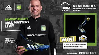 COME BACK STRONGER WEEK 3 - LIVE LOCKDOWN FOOTBALL SKILLS & FIT SESSION | COERVER EW BALL MASTERY