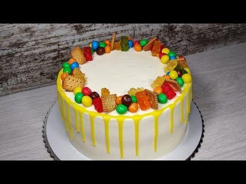 Как самой украсить торт на детский день рождения