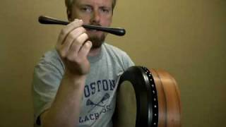ME Series (Makassar Ebony) Bodhran Tippers by Christian Hedwitschak / Art Bodhran ( PART 2 )