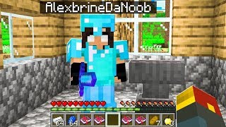 noob Girl makes OP Minecraft Gear!