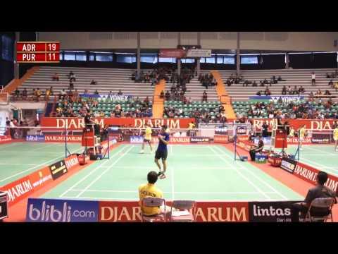 Adrianus Prasojo (SGS PLN Bandung) VS Purusa Yogi S. (PB Fajar Group) Djarum Kejurnas 2012