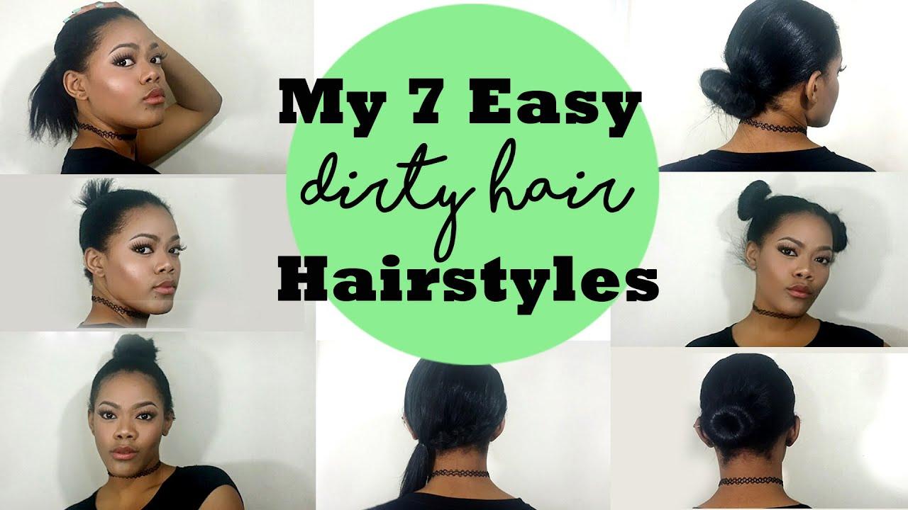 7 easy dirty hair hairstyles  krissyslifestyle - youtube