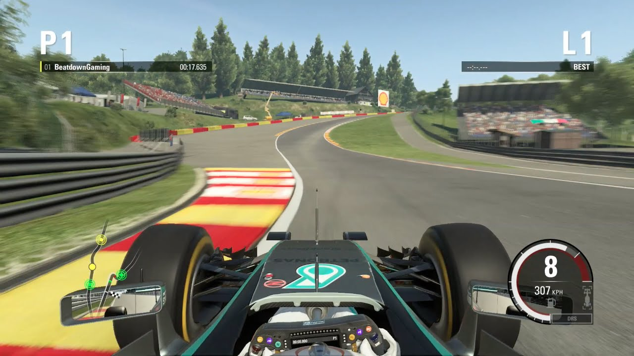 f1 2015 hot lap around spa francorchamps belgium time trial youtube. Black Bedroom Furniture Sets. Home Design Ideas