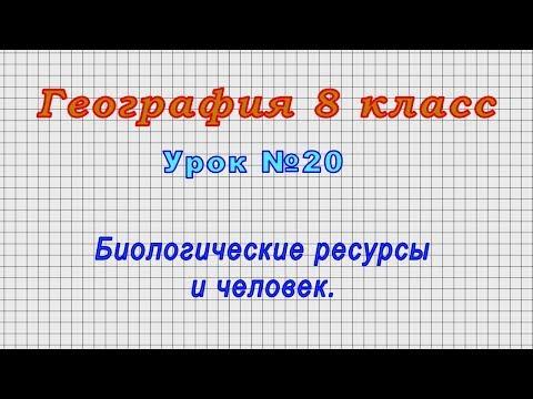География 8 класс (Урок№20 - Биологические ресурсы и человек.)
