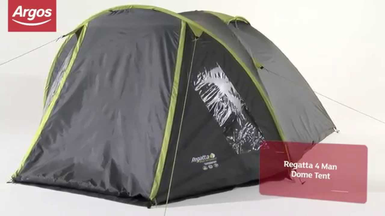 & REGATTA 4 MAN DOME TENT - YouTube
