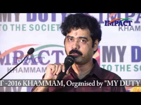 Value of Life in Techology Era by Sridhar Nallamothu at IMPACT  Khammam 2016