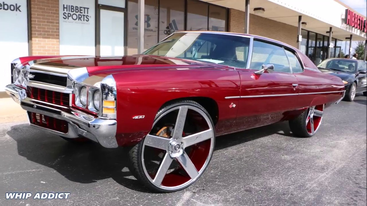 Whipaddict Kandy Red 72 Chevy Impala On Dub Baller 28s