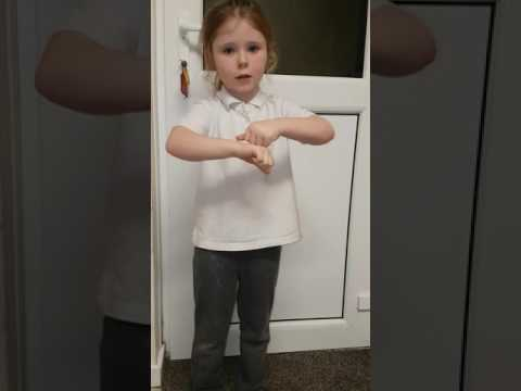 5 year old signs Christmas song Snow is falling