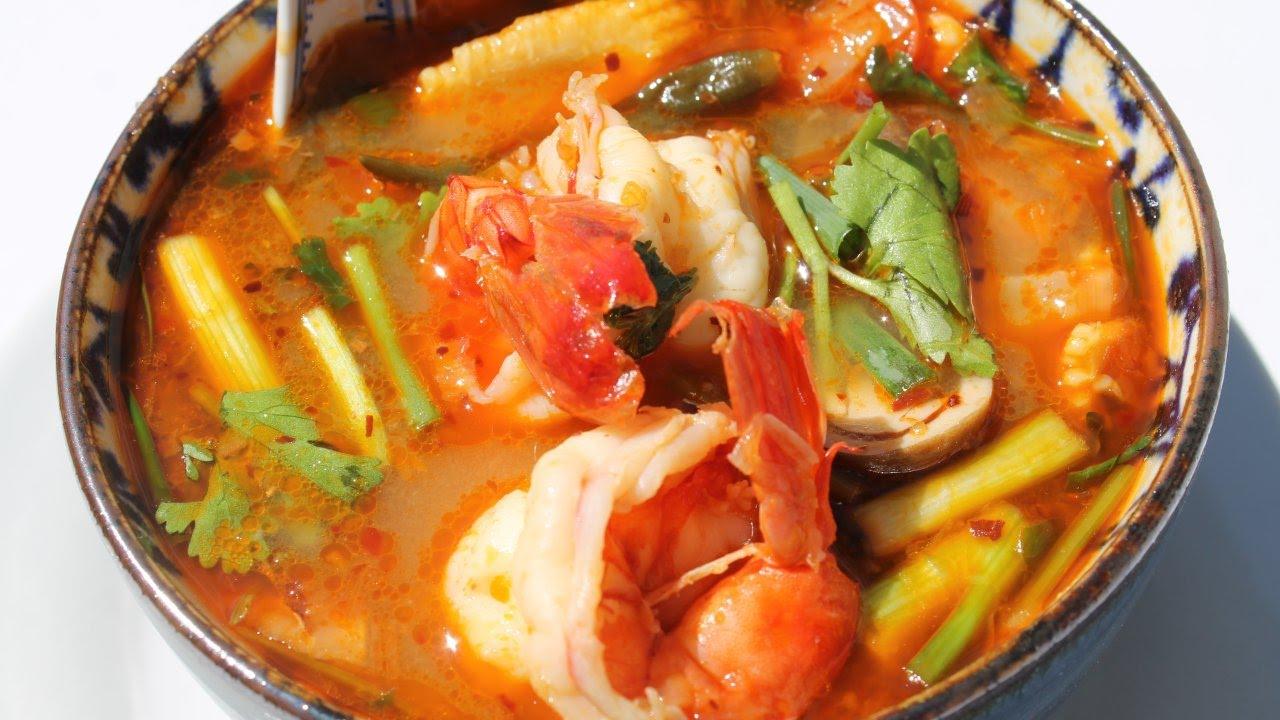 Tom yam kung recette traditionnelle tha e soupe pic e - Cuisine thailandaise recette ...