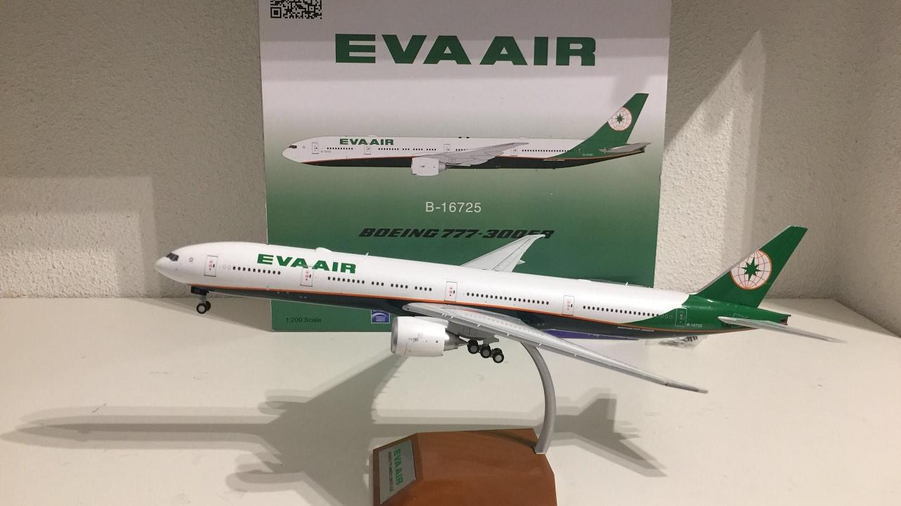 7f14e4a38 Eva air Boeing 777-300ER INFLIGHT200 1:200 Review - YouTube