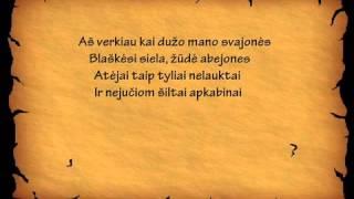 Saulės kliošas - Tu atėjai (lyrics)