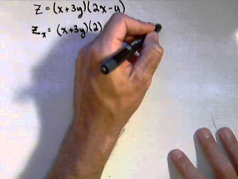 Finding First and Second Order Partial Derivatives Examples
