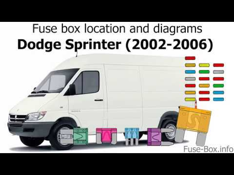 Fuse box location and diagrams Dodge Sprinter (2002-2006) - YouTube
