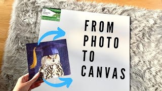 Tutorial : ENLARGING and PROJECTING an image onto a canvas for ART