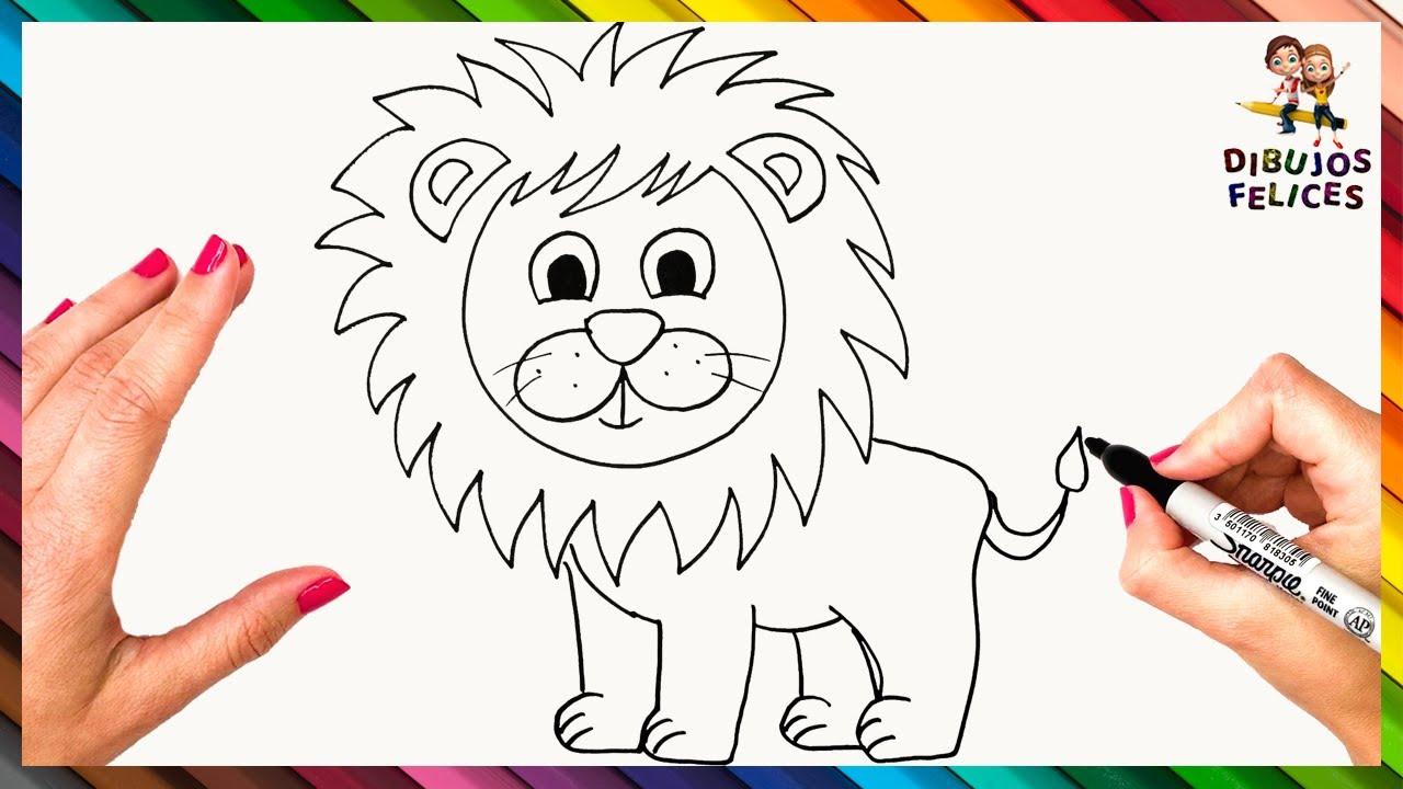 Cómo Dibujar Un León Paso A Paso 🦁 Dibujo Fácil De León